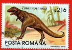 Romania1993-216L-tyrannosaurus-L