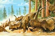 Centrosaurus-herd-postcard