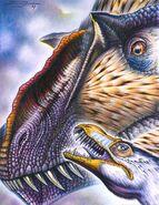 Dilong paradoxus and yutyrannus huali by paleopastori-d7ixnwk