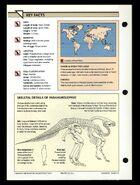 Wildlife fact file Parasaurolophus back