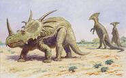 Both-the-styracosaurus-right-charles-r-knight