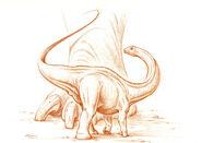 Baby Apatosaurus ajax sketch by PaleoPastori