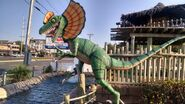 Jurassic golf dilophosaurus