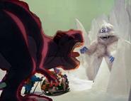 Dinosaur crossover Abominable Snow Monster VS Sharptooth
