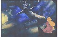 Land Before Time Original Production LITTLEFOOT & CERA Cel & Copy Bkgd -A039