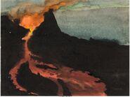 Fantasia Rite of Spring Volcano Concept Art Group 2