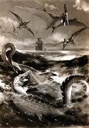 Elasmosaurus by zdenek burian 1955