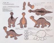Littlefoot model sheet