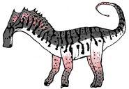 Amargasaurus restoration