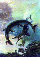 Metriorhynchus by zdenek burian 1962