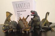 Antique vintage fantasia dinosaur figurines