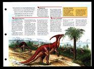 Wildlife fact file Parasaurolophus inside