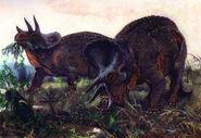Triceratops by zdenek burian 1955