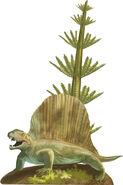 Royal Tyrrell Paleozoic arch Dimetrodon detail