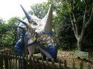 Blackgang Chine Styracosaurus dinosaur model