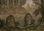 Edaphosaurus dimetrodon by abelov2014-d8plbid