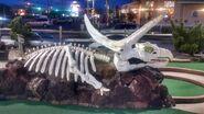 Old pro golf torosaurus skeleton