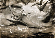 Pterodactylus by zdenek burian 1955