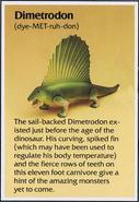 Dino Riders fact card Dimetrodon