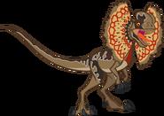 Dilophosaurus vector by smcho1014 dd34cm4