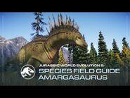 Species Field Guide - Amargasaurus - Jurassic World Evolution 2
