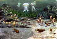 The cambrian sea by zdenek burian 1951