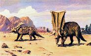 Chasmosaurus by zdenek burian 1976