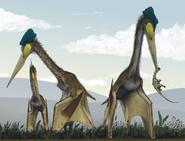 Quetzelcoatlus feeding on ground