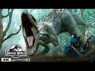 The Indominus Rex Gyrosphere Escape in 4K HDR - Jurassic World