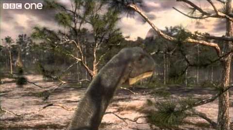 Argentinosaurus Feeding - Planet Dinosaur - Episode 5 - BBC One