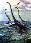 Elasmosaurus by zdenek burian 1962