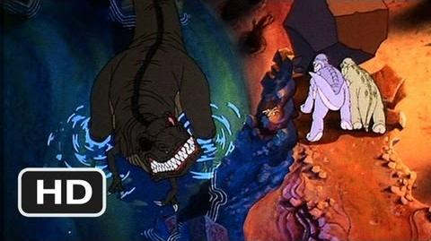 The Land Before Time (9 10) Movie CLIP - Petrie Saves His Friends From Sharptooth (1988) HD
