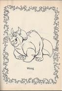 We're Back coloring page Woog