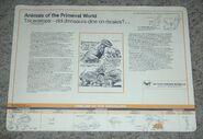 Primeval World Triceratops card back