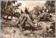 Burian Stegosaurus and ceratosaurus