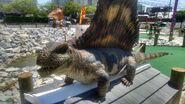Dino golf dimetrodon
