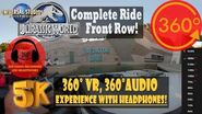 NEW Jurassic World Ride, Front Row Immersive VR - Universal Studios Hollywood 5K 360° 360° Audio