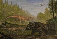 Postosuchus coelophysis placerias by abelov2014-daoiiis