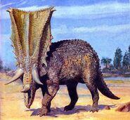 Chasmosaurus by zdenek burian 1976 2