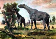 Indricotherium by zdenek burian 1955
