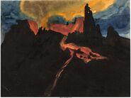 Fantasia Rite of Spring Volcano Concept Art Group 1