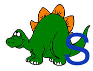 S is for Stegosaurus