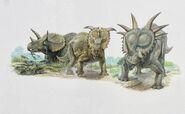 Triceratops-pachyrhinosaurus-john-sibbick