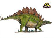 Jurassic Park Stegosaurus by hellraptor