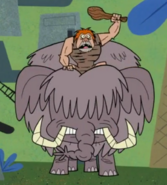 PPG Caveman Riding american Mastodon