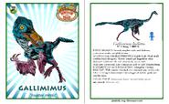 Dinosaur train gallimimus card revised by vespisaurus-db72p30