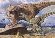 Carcharodontosaurus-guards-its-kill-mark-hallett