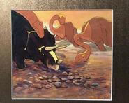 Original Disney Fantasia 1940 Dinosaurs Rite of Spring Animation Cel 1
