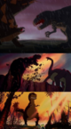 3 animated T-Rexes