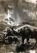 Brontotherium by zdenek burian 1941